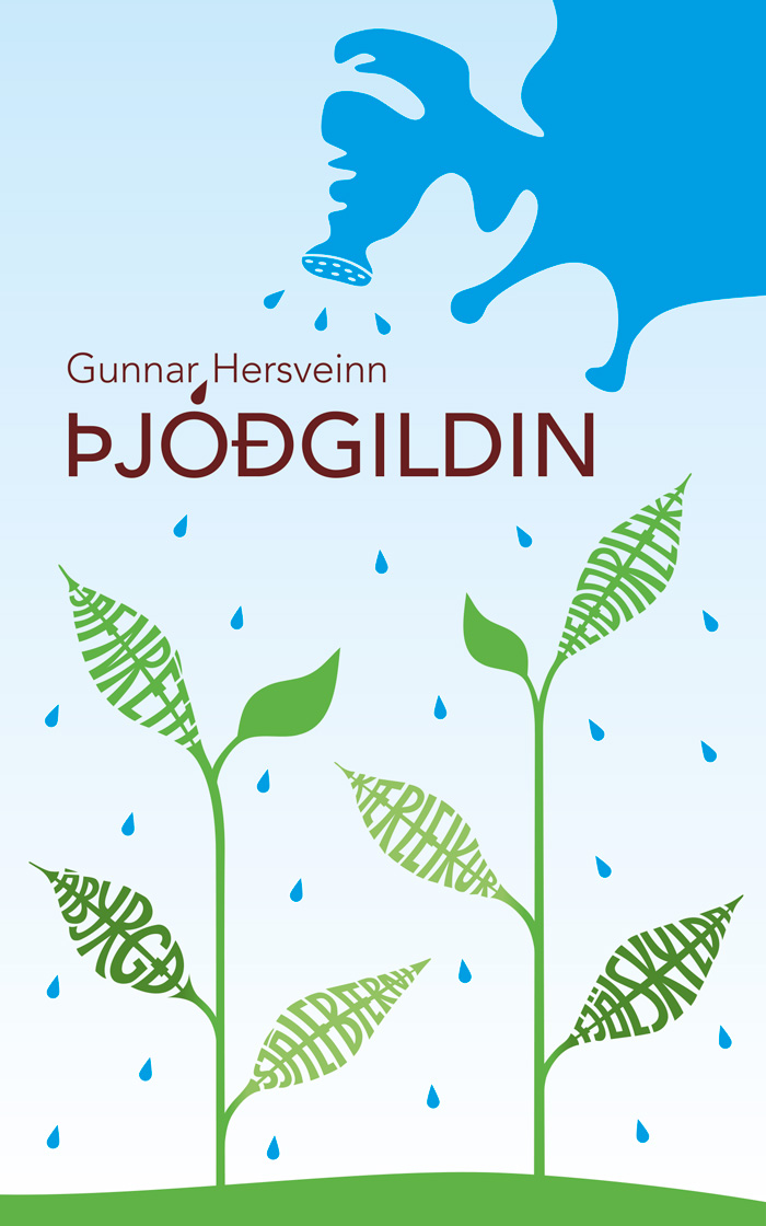 Þjóðgildin - eftir Gunnar hersvein. Hönnun og umbrot