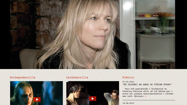 Webpage for the actress Maria Ellingsen